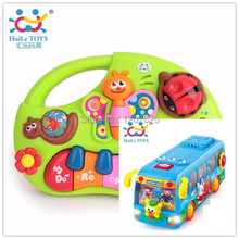 Child Puzzle Brinquedos Bebe Eletronicos Bus Learning Piano Instrumentos Musicais Free Shipping Huile Toys 927 & 908(China)