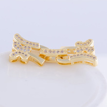 Supplies For Fashion Jewelry Fittings Flower Rhinestone lock Clasps 33*12mm Hot Sale Jewelry Connectors