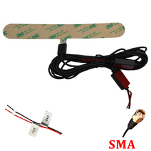 Factory Price !!! 5M Car ISDB-T DVB-T Digital TV Active Antenna with SMA connector, Booster Amplifier Aerial Free shipping