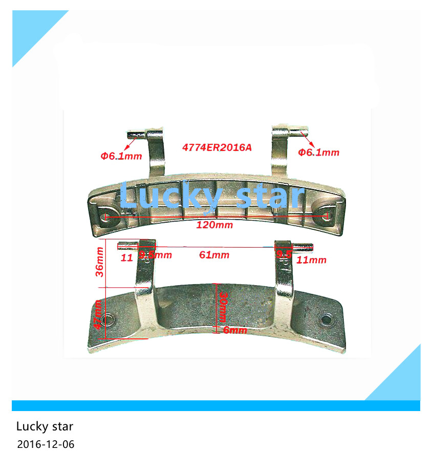 Original New for LG drum washing machine door hinge 4774ER2016A 1pcs<br><br>Aliexpress