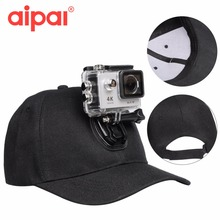Outdoor Sun Hat Topi Baseball Cap with Camera Stand Holder Mount for GoPro 5 4 SJCAM Xiaomi Yi Sport Action Camera accessories