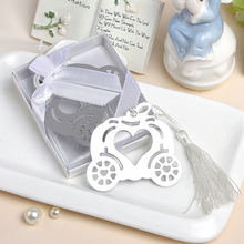 Cinderella Pumpkin Carriage Bookmark Wedding Favors And Gifts Wedding Supplies Wedding Souvenirs Wedding Gifts For Guests(China)