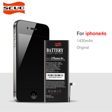 2017 New Original SCUD Phone Battery For iphone 4s Real Capacity 1430mAh With Tools Kit Replacement Mobile Batteries(China)
