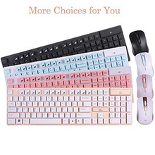 2.4GHz Wireless Keyboard And Mouse Combo Multimedia Portable Water-proof 104 Keys For Apple iPad MacBook Android Phone PC Tablet(China)