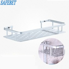 SAFEBET Brand Stainless Steel Strong Suction Shower Storage Rack Towel Washing Shower Shampoo Basket  Bathroom Storage Shelf