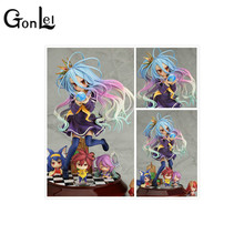 GonLeI Lovely cartoon movie Action Figure Model Furnishing articles anime No Game No Life 2 hand toy doll kids Holiday gift