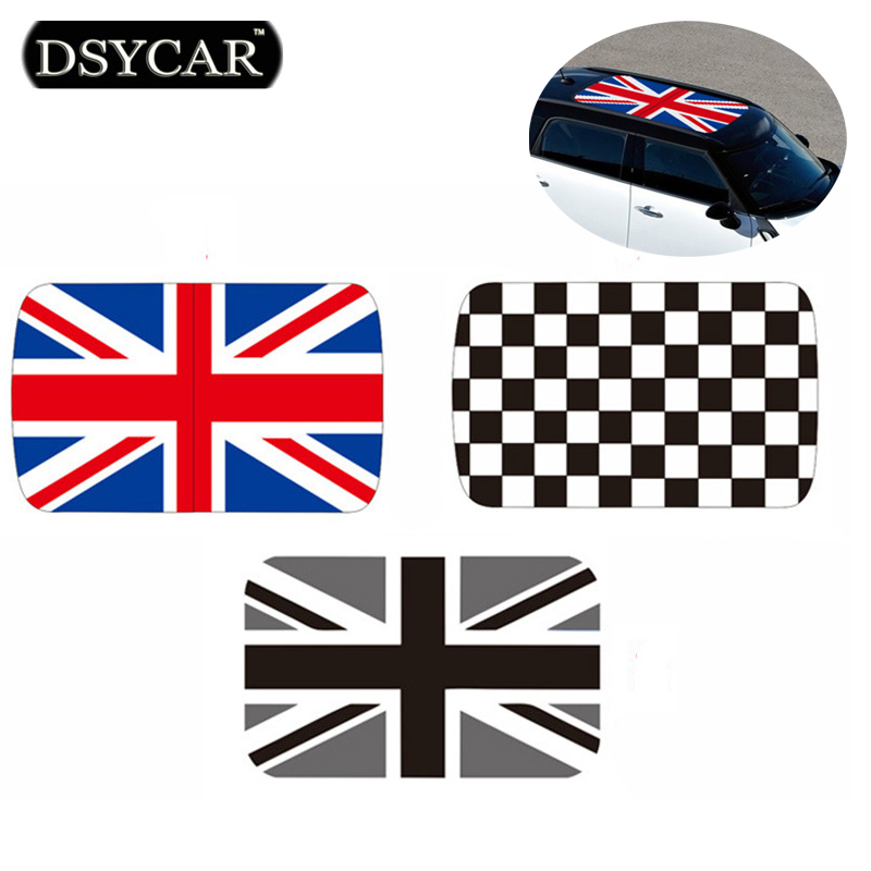 DSYCAR perforated Car Roof Sticker Car-styling For mini cooper one cooper F55 F56 countryman exclusive size Dont need to cut<br>