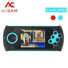 ACGAM Portable 3 inch 16 Bit Handheld Game Console Players Build-in 100 Classic Games PVP PXP MP3 MP4 Game Player Gift For Kids(China)