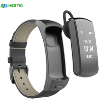 HESTIA X3 Bluetooth Smart wristband with Bluetooth Headset Call Reminder Sports Track Pedometer bracelet For iPhone Android(China)