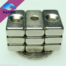 20pcs cube magnet with hole 20x10x5 - 4mm hole  Block Neodymium Rare Earth Permanent Magnet