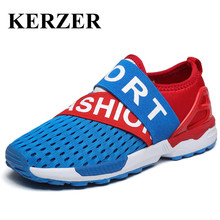 2017 New Summer Children Walking Sport Shoes Mesh Sneakers for Kids Slip on Boys Girls Trainers Size 28-37 Kids Athletic Shoes