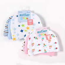 Mother Nest 3pcs/lot Baby Hats Pink/Blue Star Printed Baby Hats & Caps for Newborn Baby Accessories(China)
