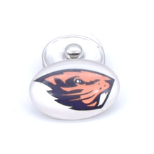 Snap Button 18mmX25mm NCAA Oregon State Beavers Charms Interchangeable Buttons Bracelet Football Fans Gift Paty Birthday(China)