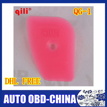 DHL FREE ship 50 pcs/a lot Qili QG-01 Multilateral Scraping Mini Pink Squeegee Home Office Window Film Installation Scraper Tool
