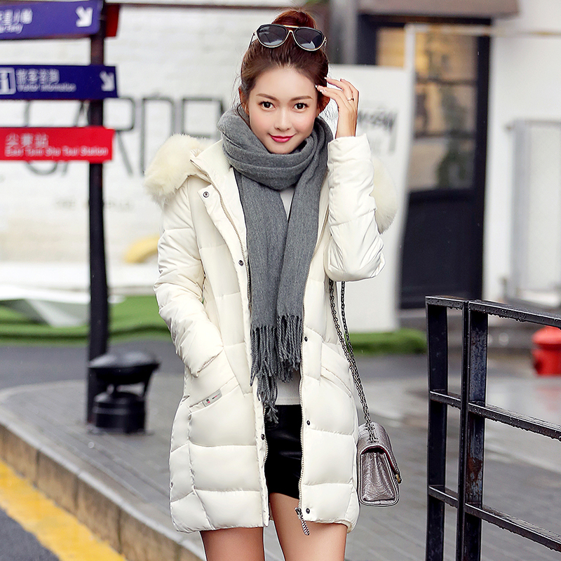 Women parka thickening 2017 wadded jacket female winter jacket women outerwear large fur down cotton jacket red casual coatsОдежда и ак�е��уары<br><br><br>Aliexpress