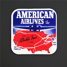 American Airline Single Travel Stickers For Luggage Fridge Skateboard Sticker Waterproof DIY Decal A35