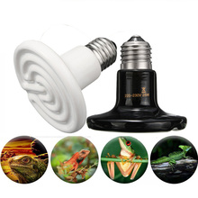 Pet Infrared Ceramic Emitter Heating Light Bulb E27 Lamp Bulbs 80mm 25/40/50/60/75/100/150W for Reptile Pet Brooder 110/220V(China)
