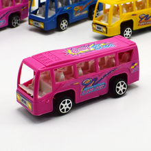 3 Pcs/lot Kawaii Mini pull back bus model car School bus Back to power car model Children's toys random colors