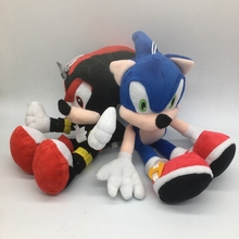 30cm Sonic The Hedgehog Plush Toys Doll Black Shadow Sonic Soft Stuffed Figure Dolls with Tag for Kids cute Gift(China)