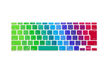 "Japanese Colorful Rainow Japan JP Soft Silicone Keyboard Cover Skin Protector film membrane for Apple MacBook Air 11"" 11.6 Inch"
