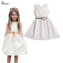 Summer Children  Kids Love Toddlers Sleeveless Floral Bow Sweet Kid Girl Party Lace Flower Sundress Dress