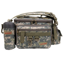 Trulinoya Outdoor Multifunction Fishing Lure Bag Waist Pack Shoulder Bag Fishing Rod Case Fishing Tackle Bag