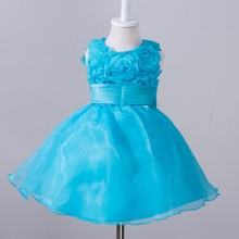 Hot Selling Flower Fancy Dresses Toddler Baby Girls Princess Dress Party Ball Gown Wedding