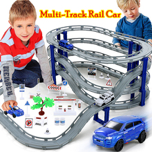 Multi-Track Rail Car Electronic Racing Car track Kids Toy Childrens Game Boys Xmas Gift Rail Building Block Educational toys