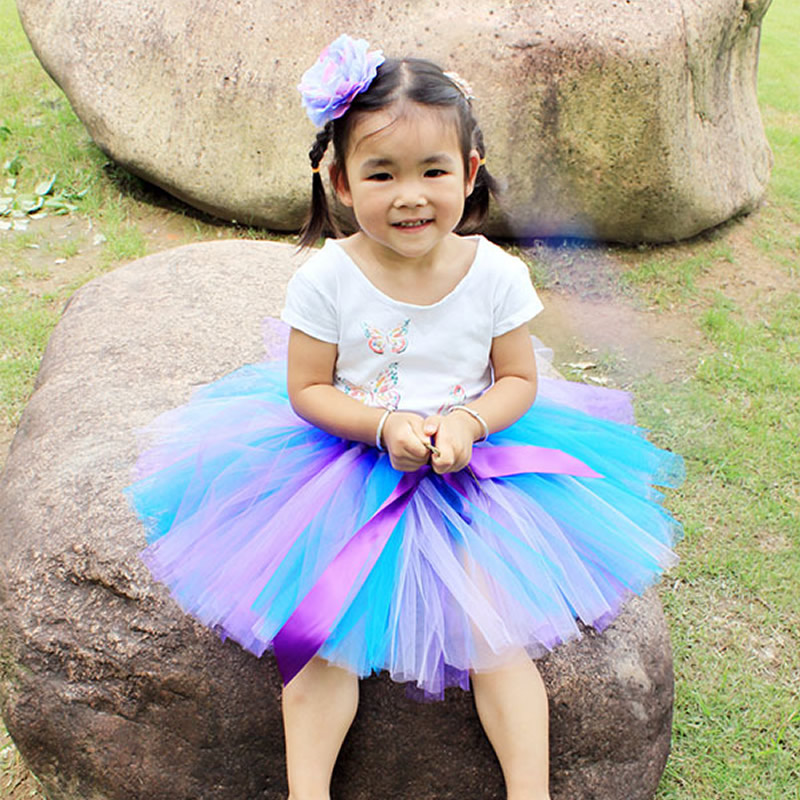 2017 Top quality Fashion Flower Girl Short candy Multicolor Flower 2-8Year Cute Draped Ball Gown Evening Dress BaBy Party<br><br>Aliexpress