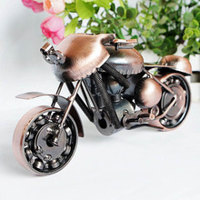 Best Kids Birthday Gift Fashion Bronze color handmade Motorcycle Model toys for Children