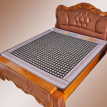 Thermal Jade Heating Mattress Electric Anionic suede fabric Massage Bed Jade Mattress For Sale