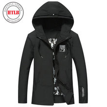 HTLB 2017 Autumn New Men Brand Jacket Coat  Men Fashion Thin Windbreaker Jacket Zipper Coats Outwear Hooded Men Jacket Clothing