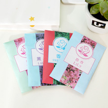 12Pcs/Lot Aromatherapy Natural Smell Incense Wardrobe Sachet Air Fresh Scent Bag Perfume Vanilla Rose Lily Lavender