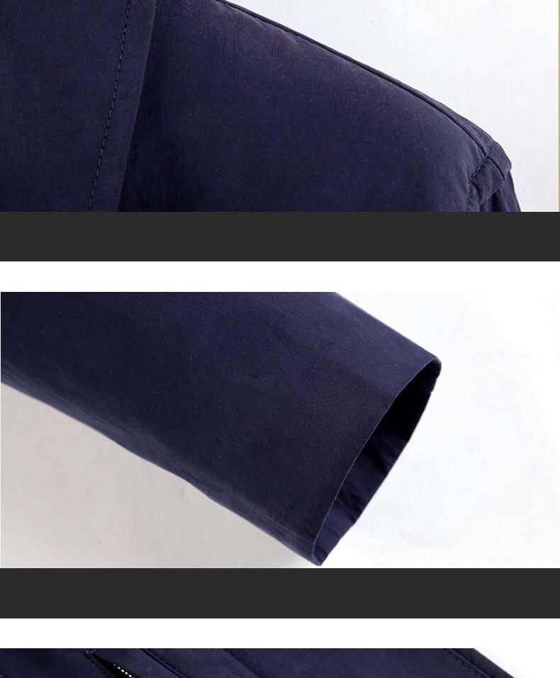 2018 New Spring Mens Casual Trench Coat Khaki blue Longline Thin Windbreaker Coats  (11)