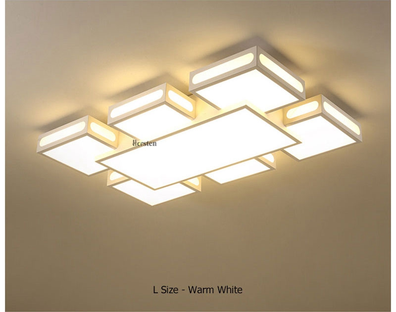 Modern Simple Acrylic LED Ceiling Lights Minimalist Rectangular Ceiling Chandelier Lights Lamp For Living Room Bedroom 220V (11)