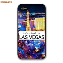 minason Las Vegas Strip North Side Cover case for iphone 4 4s 5 5s 5c 6 6s 7 8 plus samsung galaxy S5 S6 Note 2 3 4   F4581