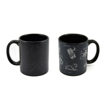 Promotion New Creative Magic Star Mugs Heat Reveal Change Color Ceramic Coffee Tea Cup Temperature Sensing Christmas Gift Mugs(China)