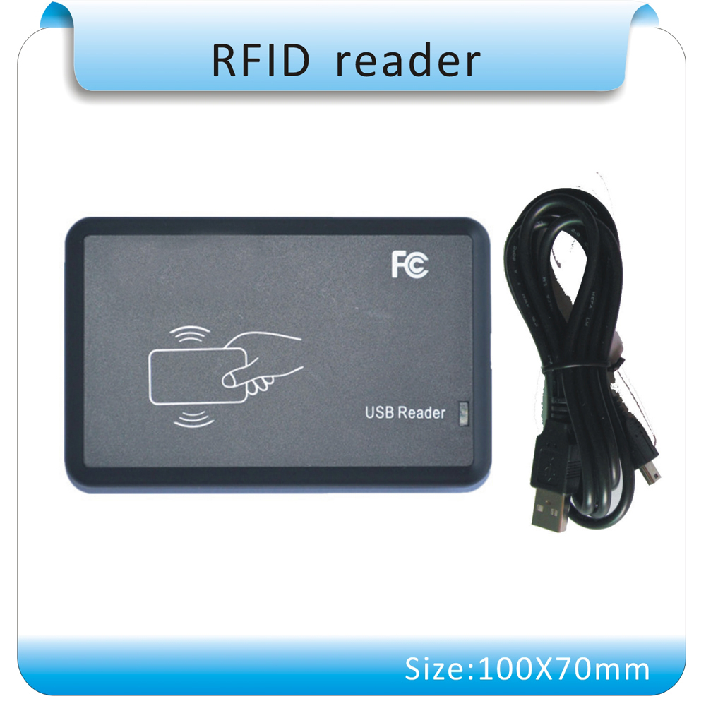 Free shipping ISO14443A USB port  13.56Mhz RFID Reader Writer Proximity Sensor  + SDK + DEMO + 10 pcs 13.56Mhz cards<br>