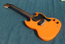 Top quality make old Orange color SG Electric Guitar,China Factory Custom Heavy Relic Aged S G guitarra,Free shipping(China)