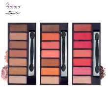 Lameila New Brand Eyeshadow Makeup Palette Waterproof 7 Color Mineral Powder Pigment Matte Shimmer Red Eye Shadow Palette
