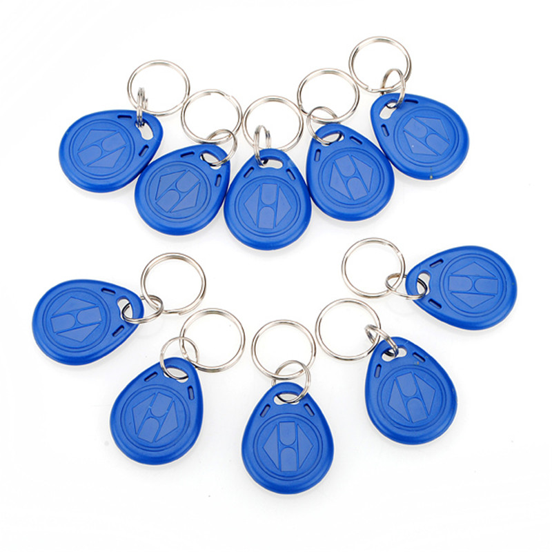 Hot Sale 10Pcs/lot Proximity ID Token Tag Key Fob 125Khz RFID Plastic Water Resist Access Control Use New(China (Mainland))