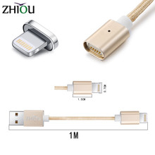 Zhiou Magnetic Cable for iPhone 6 6s Plus 5s 5 7 iPad mini Micro USB Cable For Android Nylon Data Cable Samsung Xiaomi Huawei
