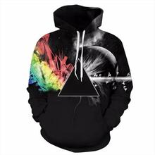 Women's funny universe starry sky 3D galaxy digital Skull Fire hoodies Sweatshirt For Women Couples Streetwear hip hop clothing(China)