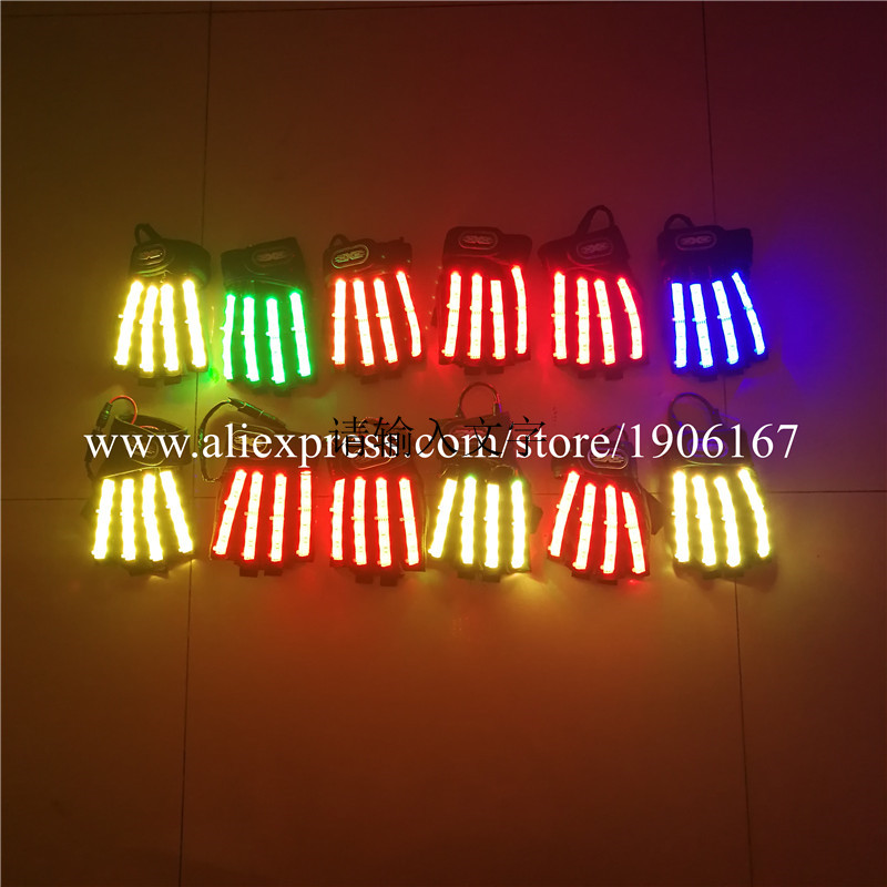 Led Gloves Stage Show Props LED Light up Gloves Glow Party Supplies09