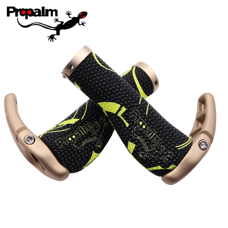 Propalm 1032EPSI Mountain Bicycle Handlebar Grips Lock On Bar Ends Lockable Silica Gel Safety Outdoor Sports Bike Accessories<br>