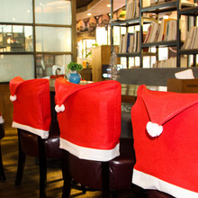 4pcs/set New Santa Red Hat Chair Covers Christmas Decorations Dinner Chair Xmas Cap Chair Backrest Deco Coating Home Decoration(China)