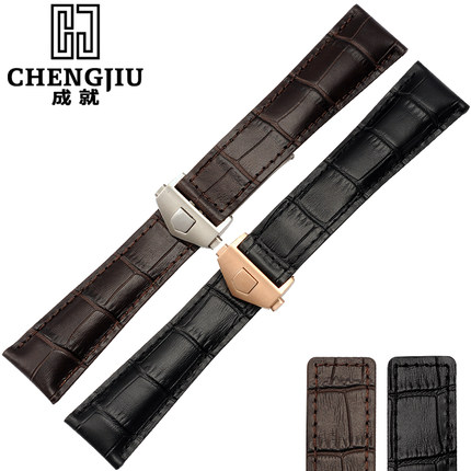 Morocco Pioneer 19 20 22 mm Calfskin Leather Strap For TAG Heuer Deployment Clasp Watch Band Strap Bracelet Watches<br>