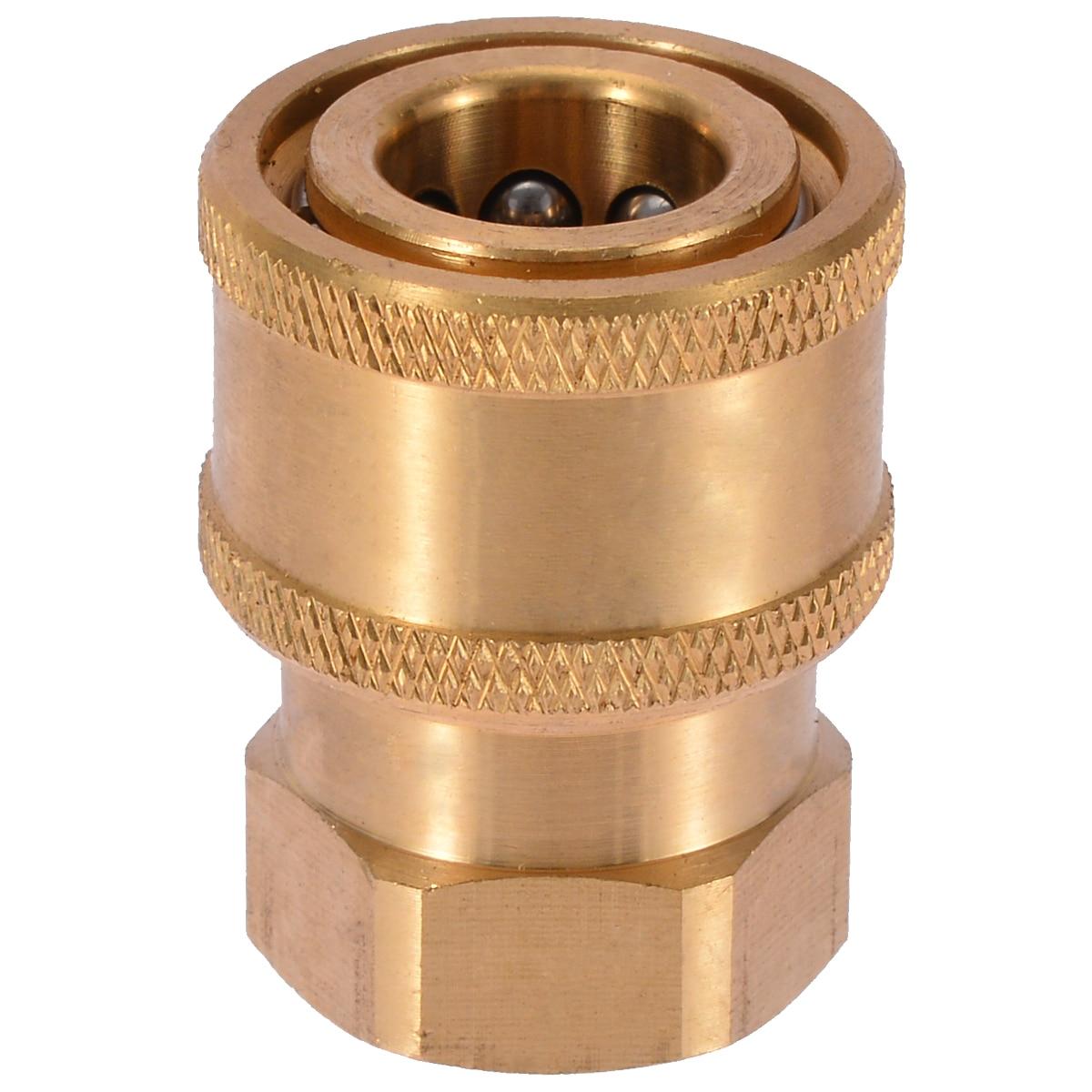 4x Brass Quick Release Coupler Pressure Washer Garden Hose Watering Kits