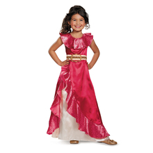 Deluxe avalor Elena princess dress genuine high quality costumes for kids Halloween girls party dressing up(China)