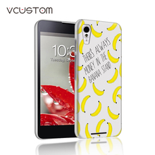 Popular Banana ice cream white hard cases for Sony Xperia T3 phone case(China)
